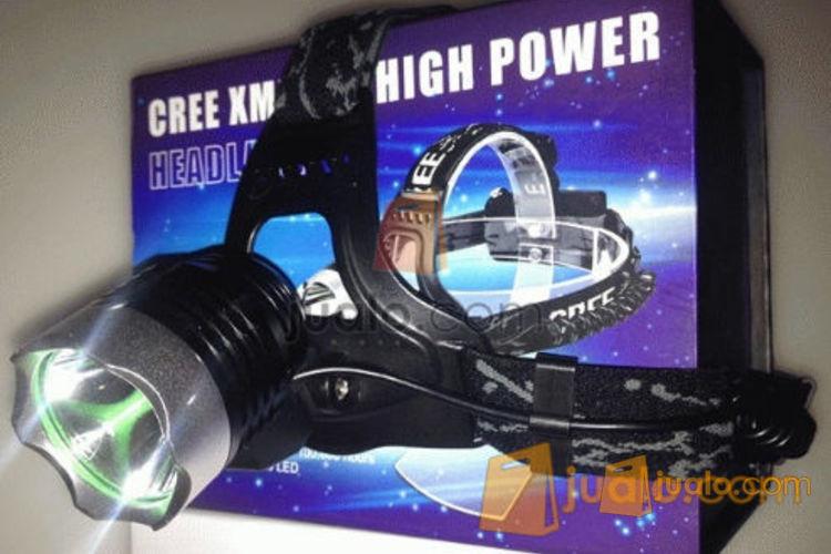 Senter kepala / Headlamp Cree XML T6 (2 batree) (496419) di Jakarta