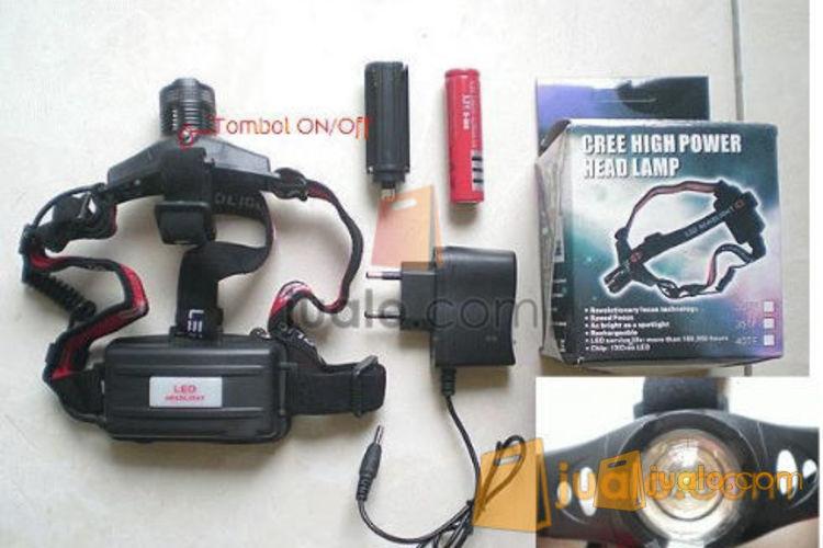 Senter Kepala headlamp led zoom, 1 batree 18650 (508974) di Jakarta