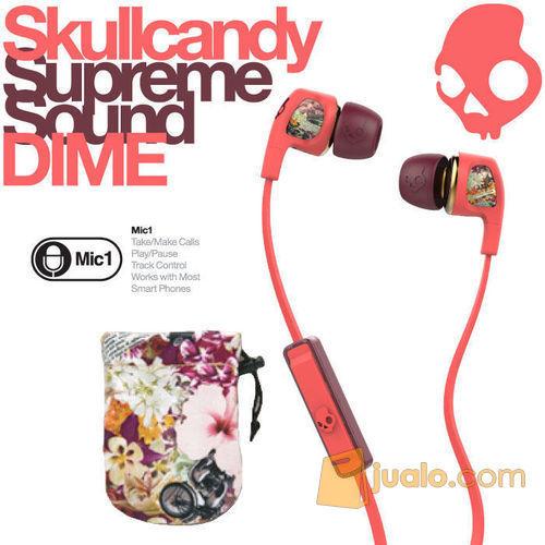 Skullcandy Women Dime W/Mic 1 Color Floral/Coral ORI (5276645) di Kota Jakarta Barat