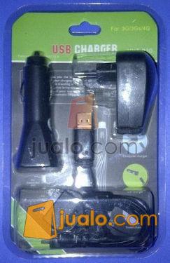 Travel Charger lighter USB komplit all in 1 (552740) di Jakarta