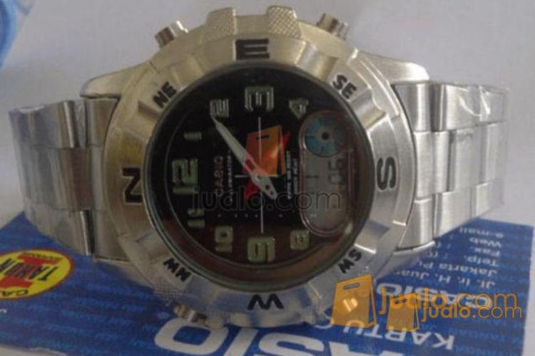 jual jam tangan Casio 705 double Time rantai (554712) di Jakarta