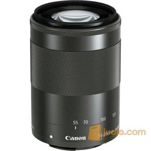 Lensa Canon E-FM 55-200mm is stm / Lensa mirrorless Canon EOS-M (5562021) di Kota Jakarta Barat