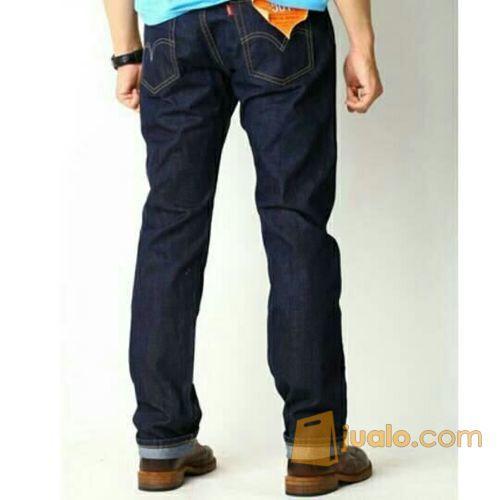 Celana Jeans Pria / Celana Levis Reguler Pria Dongker (5698833) di Kab. Bandung