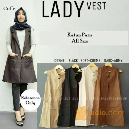 Lady vest outer ata mode gaya wanita 5698843