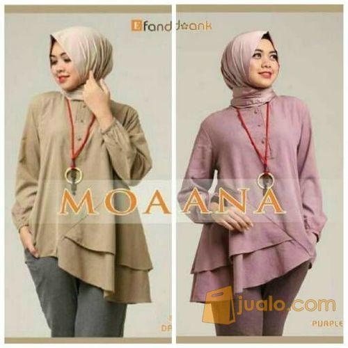 Moana top blouse dr mode gaya wanita 5699571