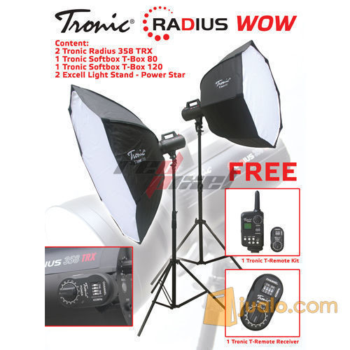PAKET LAMPU STUDIO TRONIC RADIUS WOW (5704745) di Kota Jakarta Barat