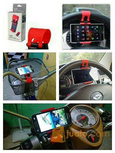 Gantungan Hp Stir Mobil Motor Sepeda di Car Steer Wheel Socket Holder (5705231) di Kota Jakarta Barat