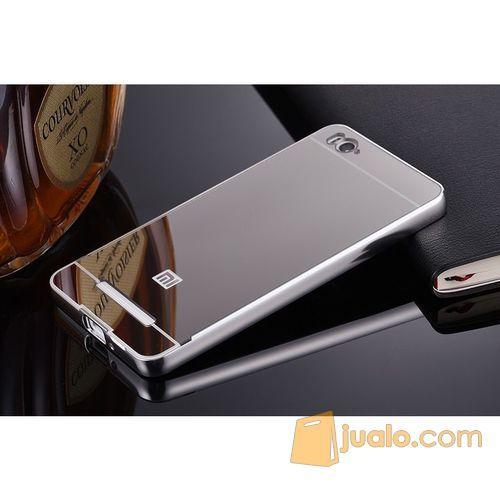 Xiaomi Mi 4i/4c - Aluminium Bumper with Mirror Back Cover (5706279) di Kota Bogor