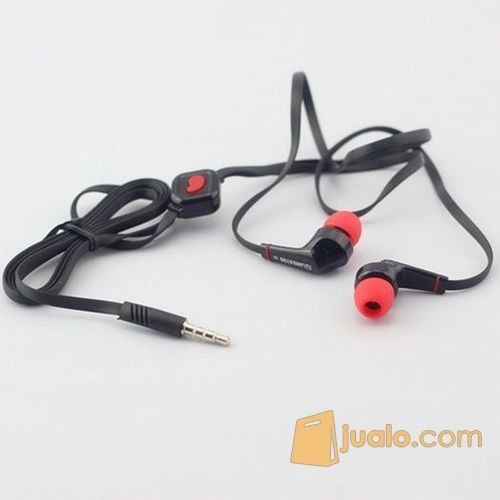 Earphones Stereo Bass 3.5mm Jack Noodle Cable with Microphone (5707065) di Kota Bogor