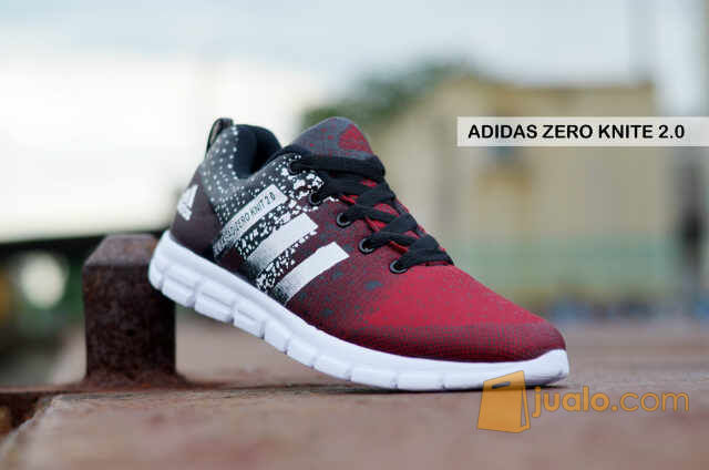 sepatu casual sneakers gaya running kets gym lari adidas adizero knit (5717801) di Kab. Bandung