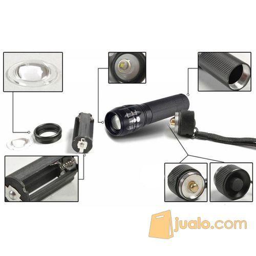 Taffware Senter LED Cree Q5 2000 Lumens Penerangan Darurat AAA batre (5718959) di Kota Jakarta Barat
