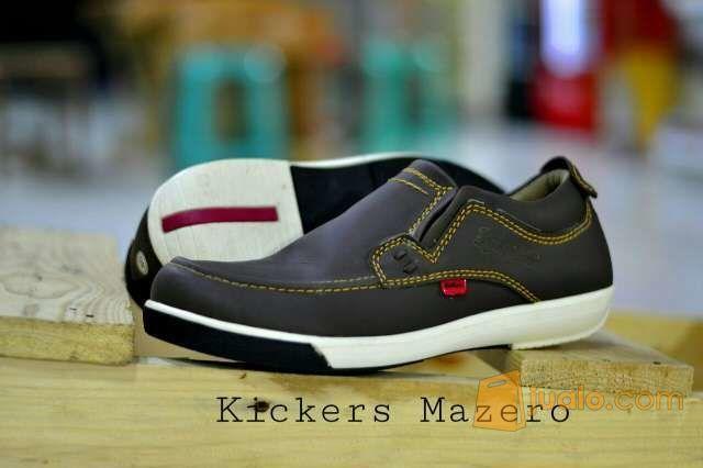sepatu casual slip on kickers slop moccasin suede santai formal tan (5719929) di Kab. Bandung
