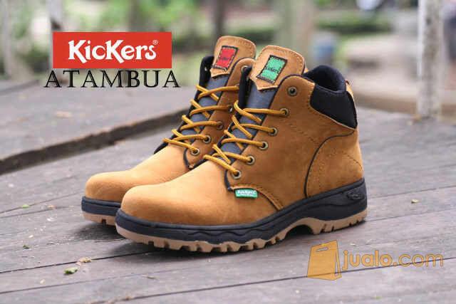 sepatu boot kerja proyek outdoor lapangan kickers safety ujung besi (5720053) di Kab. Bandung