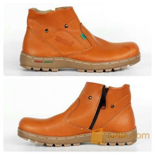 sepatu boot santai simpel indoor outdoor kickers zipper sleting (5720731) di Kab. Bandung