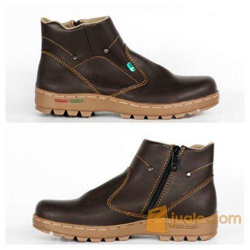 sepatu boot santai simpel indoor outdoor kickers zipper sleting (5720737) di Kab. Bandung