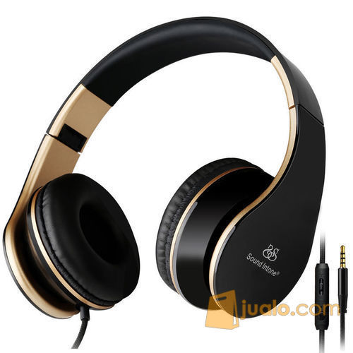 Sound Intone I65 Portable Foldable Headphone with Microphone 3.5mm AUX (5765485) di Kota Jakarta Barat