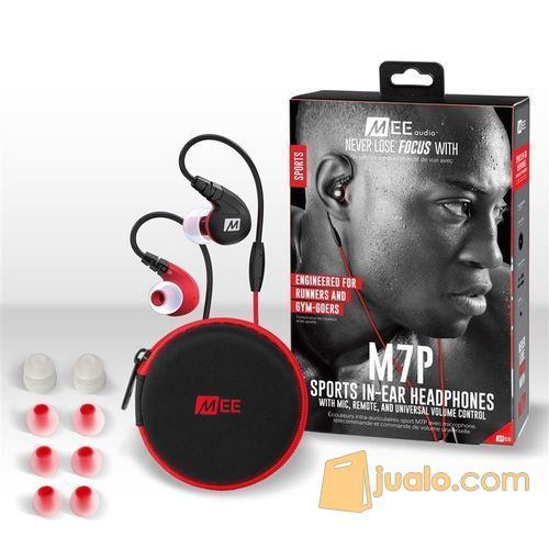 MEElectronics M7P Secure-Fit Sports In-Ear Headphones with Mic Remote (5871517) di Kota Jakarta Barat