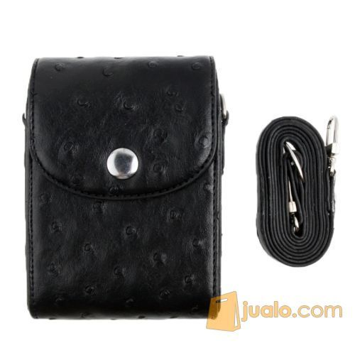 Tas / Case / Kamera Mirrorless / Motif Grain PU Leather - Hitam (5943797) di Kota Lubuk Linggau
