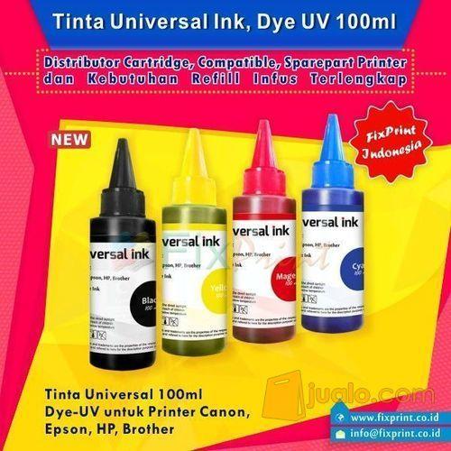 Tinta Universal Ink Magenta 100ml, Tinta Dye Base Tutup Kerucut (5970577) di Kota Surabaya