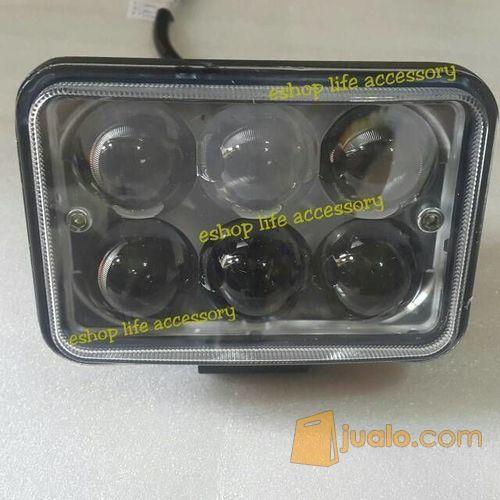 Lampu sorot led motor / mobil sinar fokus 18 watt kotak waterproof (6013023) di Kota Jakarta Barat