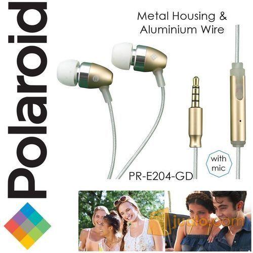 Polaroid Metal Earphone with mic, aluminium wire headset E204-GD (7469757) di Kota Jakarta Barat