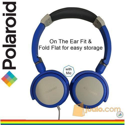 Polaroid headphone with foldable & soft ear pad on ear headset H096-BU (7469927) di Kota Jakarta Barat