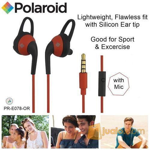 Polaroid Earphone Sports with ear tip & mic, stereo headset E078-OR (7469987) di Kota Jakarta Barat