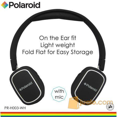 Polaroid headphone On Ear w/ light weight,soft ear pad headset H003-WH (7470137) di Kota Jakarta Barat