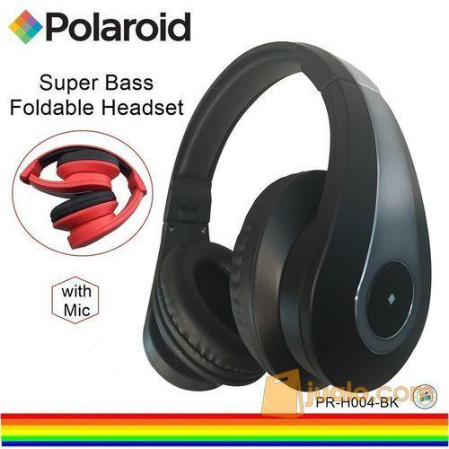 Polaroid headphone super bass, soft ear pad & foldable headset H004-BK (7470155) di Kota Jakarta Barat