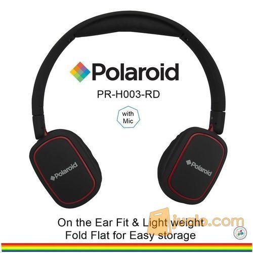 Polaroid headphone On Ear w/ light weight,soft ear pad headset H003-RD (7470559) di Kota Jakarta Barat