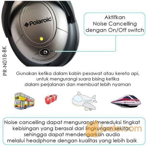Polaroid Super Bass, foldable Noise canceling headphone headset PRN018 (7471673) di Kota Jakarta Barat