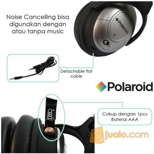 Polaroid Super Bass, foldable Noise canceling headphone headset PRN018 (7471675) di Kota Jakarta Barat