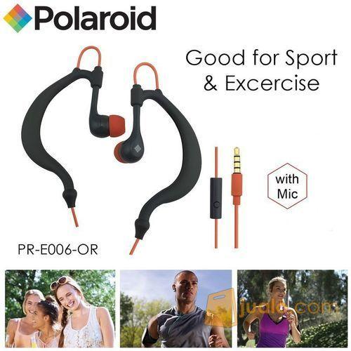 Polaroid Earphone Sports sweat proof with mic, earhook headset E006-OR (7472687) di Kota Jakarta Barat