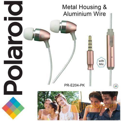 Polaroid Metal Earphone with mic, aluminium wire headset E204-PK (7473027) di Kota Jakarta Barat