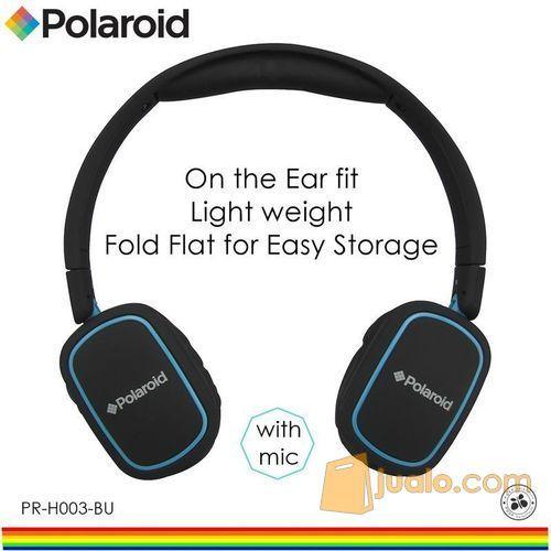 Polaroid headphone On Ear w/ light weight,soft ear pad headset H003-BU (7473395) di Kota Jakarta Barat