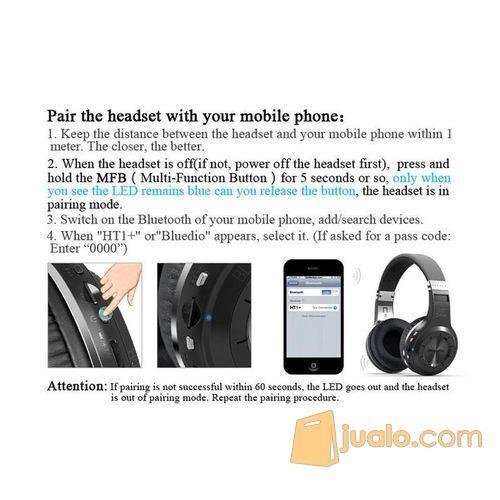 Original Bluedio H+ Turbine Hurricane Wireless Bluetooth Headphone (7543685) di Kota Jakarta Barat