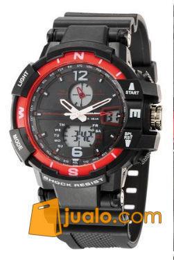 Jam tangan sport tetonis 29 original Rp.185.000,- -Tahan Air 30 Meter -tangal -hari -Alarm -double time (analog digital) -Mesin Batre -diameter 4.5Cm (760954) di Kota Jakarta Selatan