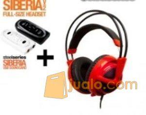 Steelseries Siberia Full-size Headset V2 Red + SoundCard (7866113) di Kota Jakarta Barat