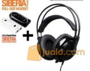 Steelseries Siberia Full-size Headset V2 Black + Siberia SoundCard (7867363) di Kota Jakarta Barat