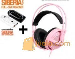 Steelseries Siberia Full-size Headset V2 Pink + SoundCard (7867489) di Kota Jakarta Barat