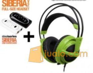 Steelseries Siberia Full-size Headset V2 Green + SoundCard (7874155) di Kota Jakarta Barat