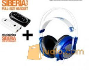 Steelseries Siberia Full-size Headset V2 Blue + SoundCard (7874897) di Kota Jakarta Barat