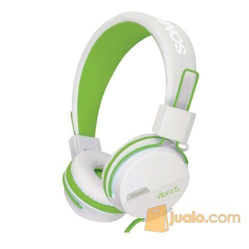 Sonicgear-vibra-5-wired-headsets-white-green (7878317) di Kota Jakarta Barat