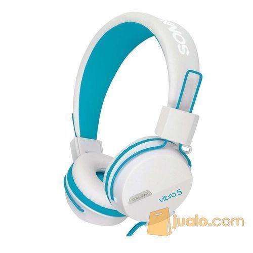 Sonicgear-vibra-5-wired-headsets-white-blue (7878427) di Kota Jakarta Barat