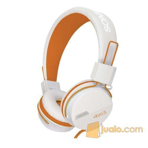 Sonicgear-vibra-5-wired-headsets-white-orange (7878711) di Kota Jakarta Barat