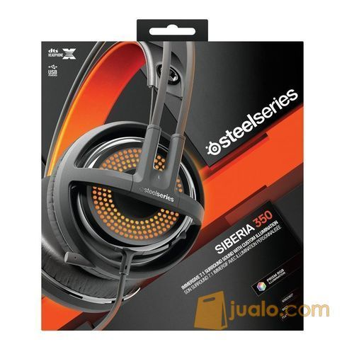 Steelseries Siberia 350 Gaming Headset Black (7880407) di Kota Jakarta Barat