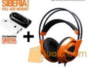 Steelseries Siberia Full-size Headset V2 Orange + Sound Card (7881253) di Kota Jakarta Barat