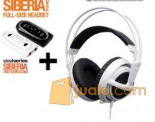 Steelseries Siberia Full-size Headset V2 White + SoundCard (7881571) di Kota Jakarta Barat