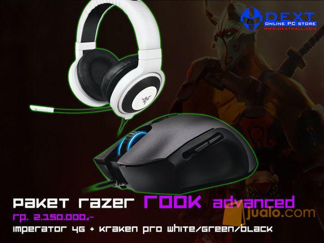 Paket Razer Rook Advanced (Mouse Imperator 4G + Headset Kraken Pro Green) (7881637) di Kota Jakarta Barat