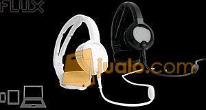 Steelseries Flux Headset Black White (7882327) di Kota Jakarta Barat